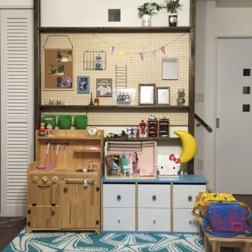 女性で、のキッズスペース/ままごとキッチンDIY/リカちゃんの部屋DIY/トミカ…などについてのインテリア実例を紹介。