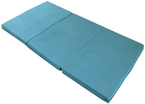 エイプマンパッド310 高反発マットレス シングル 三つ折り 厚み10cm ミッドブルー