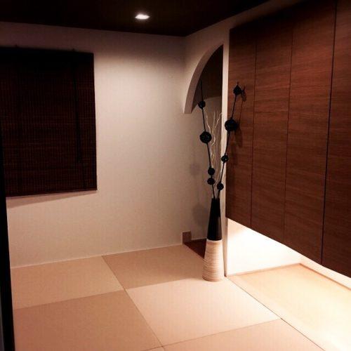 女性で、Other、家族住まいの間接照明/和モダン 和室/和紙畳/吊り押入れ/和室/スタイリッシュ…などについてのインテリア実例を紹介。
