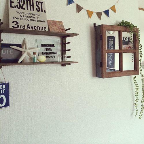 ・例3)天井の棚から飾って垂れ下げた演出法を工夫