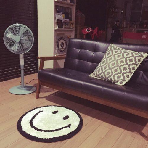 女性で、4LDK、家族住まいのにこちゃん◡̈⃝︎⋆︎*/ソファー/カフェ風/扇風機/ピエリア扇風機/ピエリア…などについてのインテリア実例を紹介。