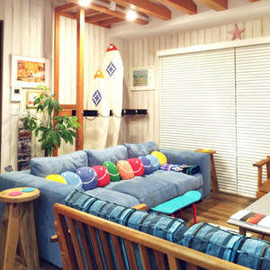 カリフォルニアスタイルの部屋の実例