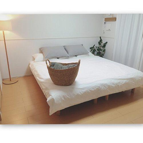 女性で、、家族住まいの無印良品/IG→sho.ko_ie/寝室/無印良品ベッド/ベッド/ニトリ…などについてのインテリア実例を紹介。