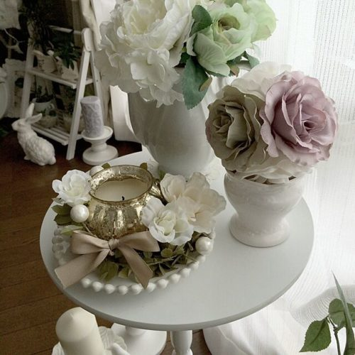 女性で、3LDK、家族住まいのフランフラン/ホワイト雑貨♡/IKEA/キャンドル✨/フェイクフラワー✨/Francfranc…などについてのインテリア実例を紹介。