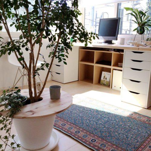 トルコ絨毯が絵になる部屋の実例