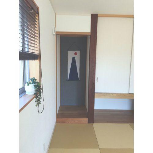 女性で、、家族住まいのナチュラル/シンプル/和室/手ぬぐい/琉球畳/無垢材…などについてのインテリア実例を紹介。