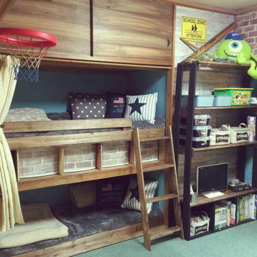 女性で、4DK、家族住まいの子ども部屋/流木/和室から洋室へ/団地住まい/北欧/DIY…などについてのインテリア実例を紹介。