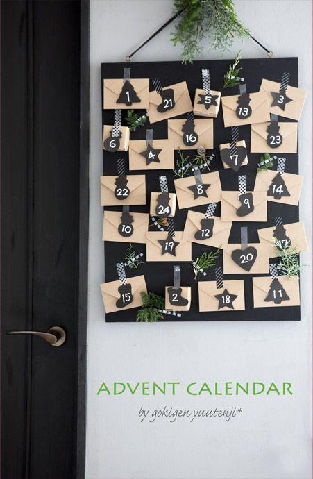 クリスマスまであと何日と言うアドベントカレンダーを壁に手作りするのも気分が盛り上がりますよね。