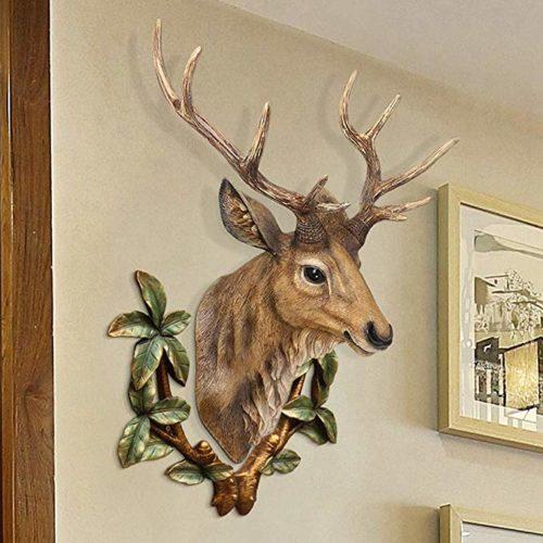 Proslen アニマルヘッド 鹿 オブジェ 壁飾り インテリア 樹脂製