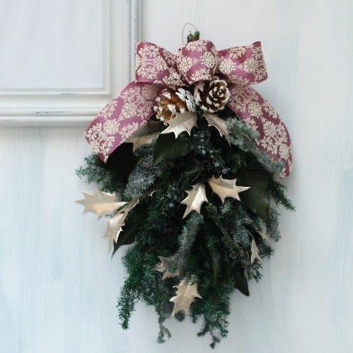 造花でもOK!クリスマスにも♡季節を彩る「スワッグ」の作り方
