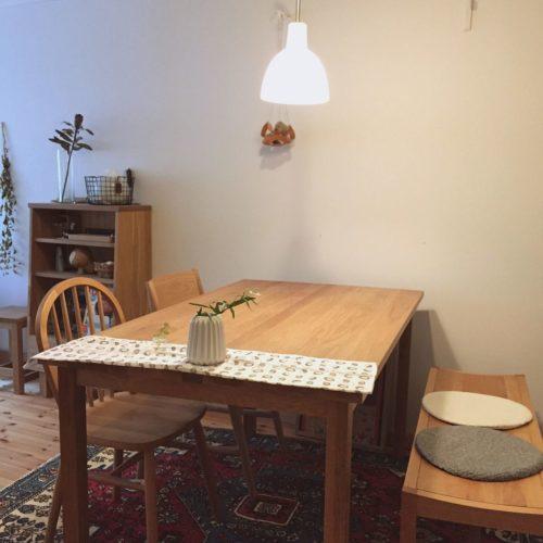 女性で、2LDK、家族住まいのdrc/DIY/照明/IKEA/北欧/北欧インテリア…などについてのインテリア実例を紹介。