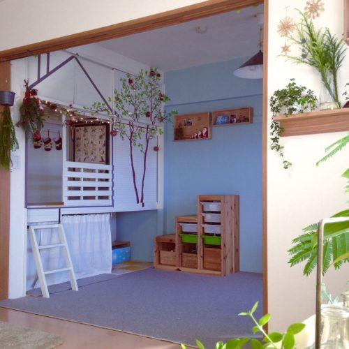 女性で、3LDK、家族住まいのクリスマス/こどもと暮らす。/グリーンのある暮らし/押入れ改造/和室を改造…などについてのインテリア実例を紹介。