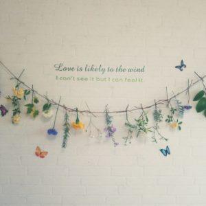 花のガーランドのDIY例
