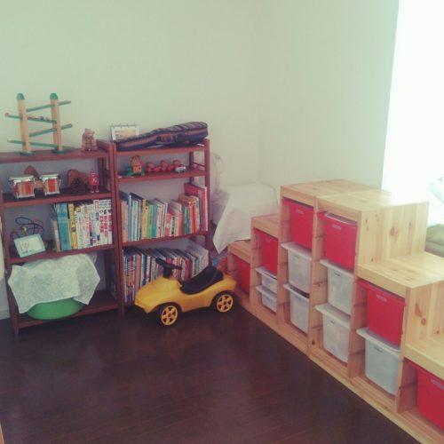 女性で、3LDKの本が多い/IKEA/子ども部屋/棚についてのインテリア実例を紹介。