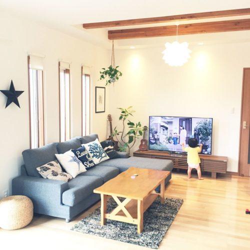 フランフランのラグを使った部屋の実例
