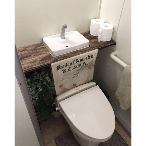 女性で、3DKのDIY/団地/団地部/賃貸/トイレ改造計画/トイレタンク隠し DIY…などについてのインテリア実例を紹介。