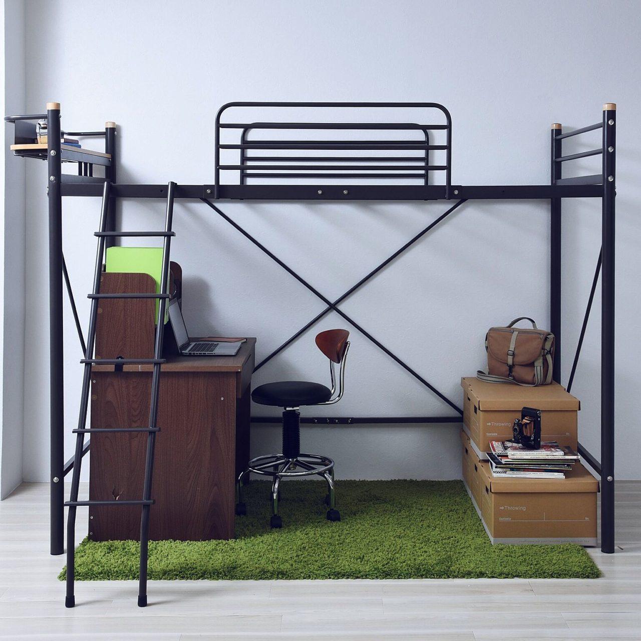 その他で、Otherの山善/子供部屋/ひとり暮らし/ロフトベッド/ベッド周りについてのインテリア実例を紹介。