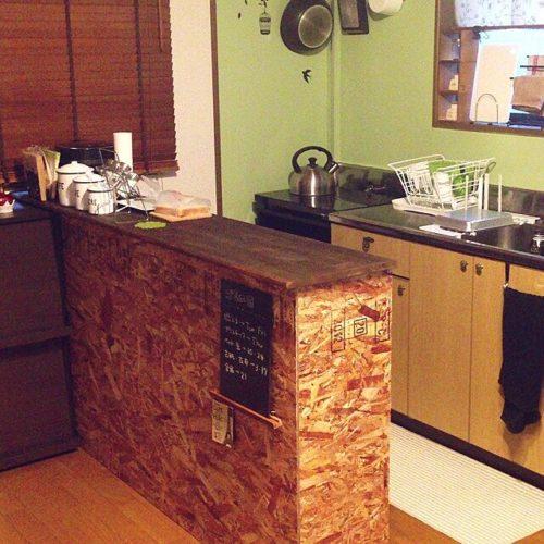 女性で、のDIY/キッチンカウンターDIY/まえの部屋/以前の我が家/キッチンについてのインテリア実例を紹介。
