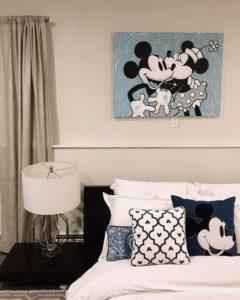ディズニー部屋 ベッド周辺
