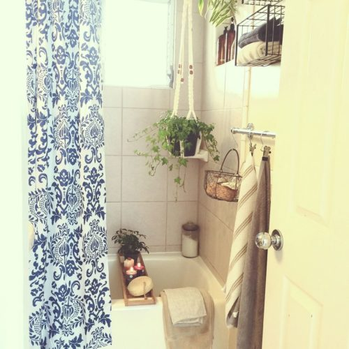 In women,bath/toilet/houseplants/bath/unit bath/shower curtains/wire basket...such as the interior of the examples introduction.