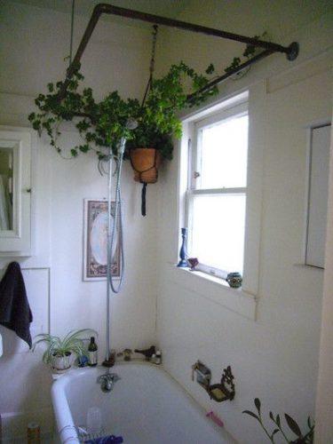 お風呂をグリーンで飾るインテリア例