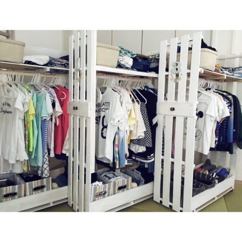 女性で、OtherのDIY棚/衣類収納/収納できる衣類収納/子供服収納/DIY/収納アイデア…などについてのインテリア実例を紹介。