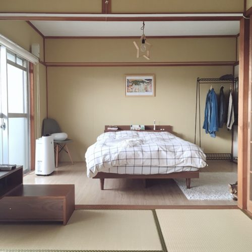和室をベッドルームに!無印やニトリでおしゃれなインテリアコーデ