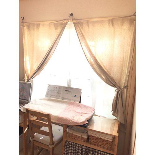 女性で、の和室を洋室に /和室を改造/カゴ/カーテン/ナチュラルインテリア/かご大好き…などについてのインテリア実例を紹介。