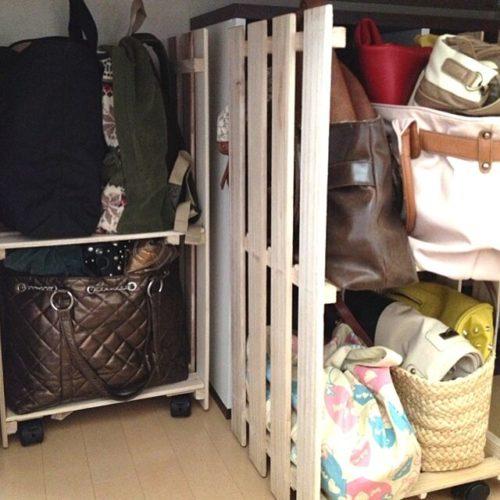 女性で、2LDKのバッグの収納/リメイク/すのこ/押し入れ/収納/ベッド周り…などについてのインテリア実例を紹介。