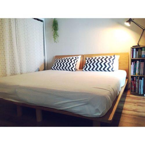 女性で、のギザギザ/ベッド周り/DIY/寝室/こどもと暮らす。/元和室…などについてのインテリア実例を紹介。