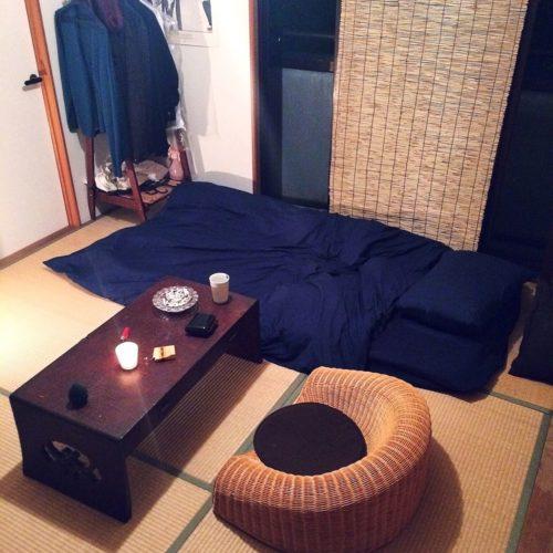 男性で、1DKのIKEA/和/和室/ラタン/簾/すだれ…などについてのインテリア実例を紹介。