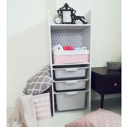 Of the color box(color box)using the baby clothes storage example using baby clothes storage example