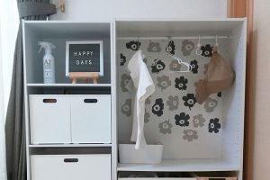 ニトリのカラーボックス(カラボ)を使った子供服の収納例