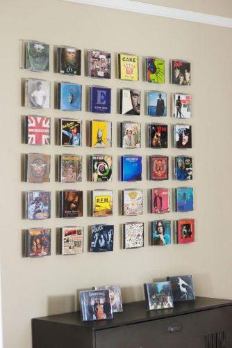 CDはおしゃれに飾りたい!壁を使ったアイデア収納