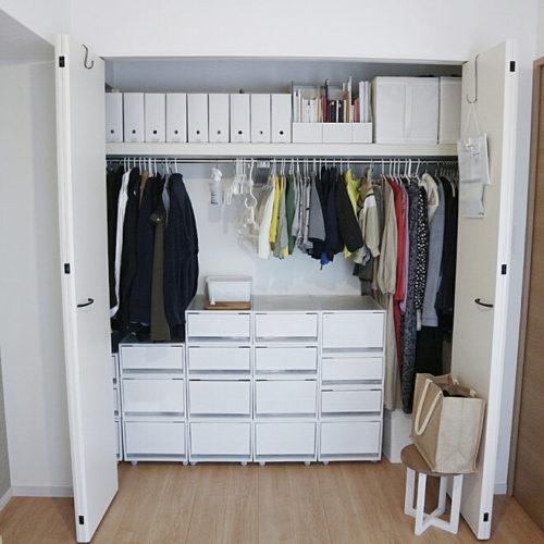 Muji's closet storage for