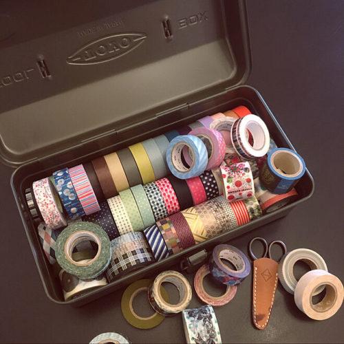 マスキングテープ収納アイデア工具箱