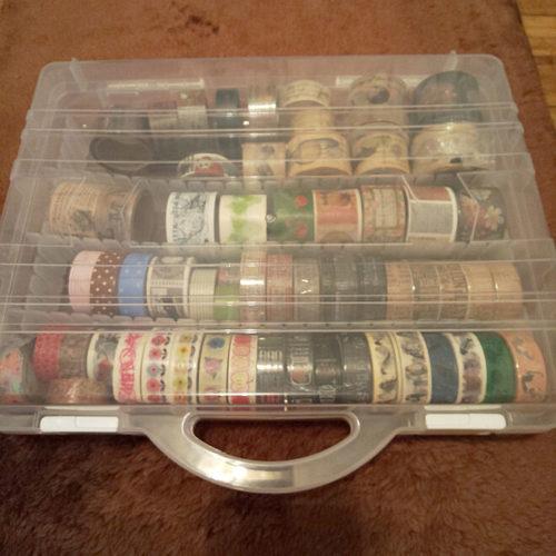 マスキングテープ収納アイデア取っ手付きケース