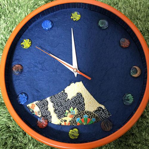 ダイソー掛け時計リメイクアイデア文字盤和紙