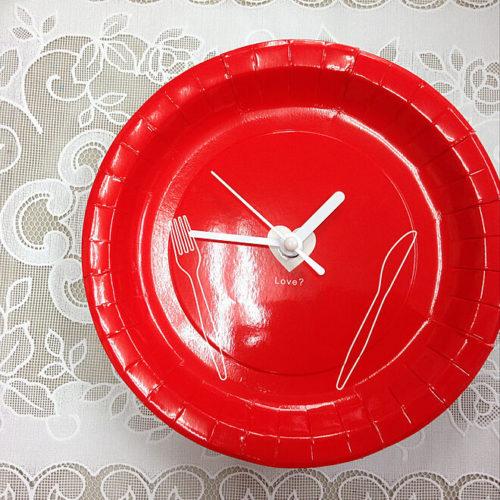 ダイソー掛け時計リメイクアイデア紙皿