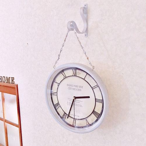 ダイソー掛け時計リメイクアイデア吊り下げ