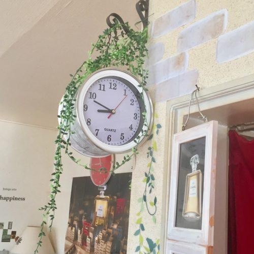 ダイソー掛け時計リメイクアイデア両面時計2