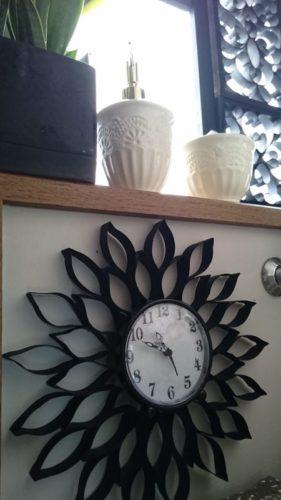 ダイソー掛け時計リメイクアイデアトイレットペーパー