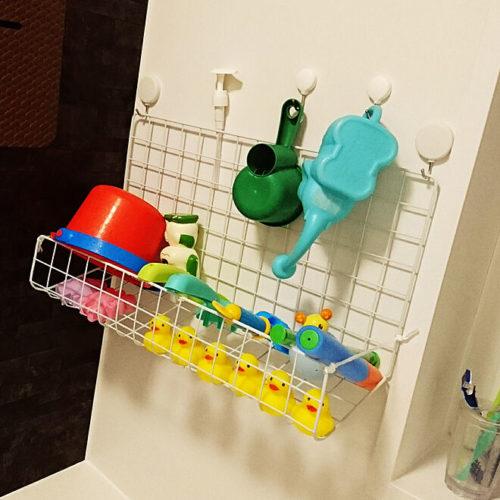 オモチャ収納風呂棚