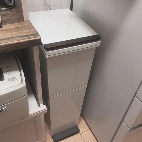 キッチンゴミ箱収納場所冷蔵庫横