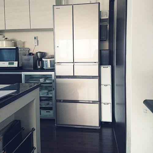 キッチンゴミ箱収納場所冷蔵庫横02