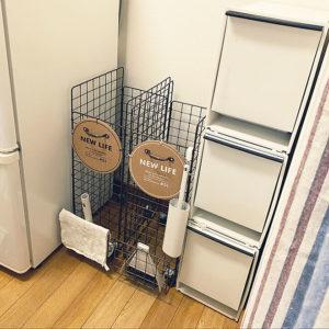 キッチンゴミ箱収納場所冷蔵庫横03