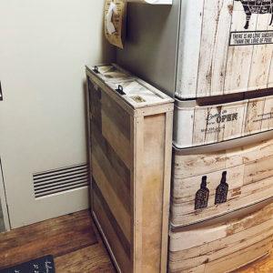 キッチンゴミ箱収納場所冷蔵庫横04