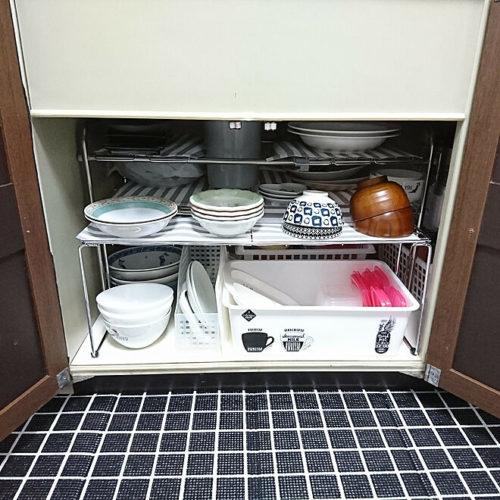 ニトリ食器収納アイデアシンク下棚