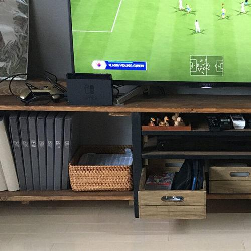 ゲーム機隠して収納TVボード02