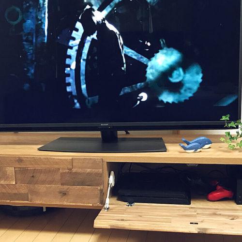 ゲーム機隠して収納TVボード03